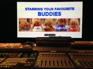 Mixing the new Air Buddies Theatrical Trailer at Western Post